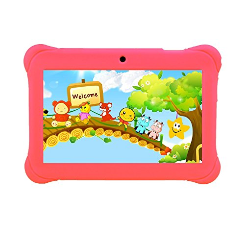 Tagital 7' T7K Quad Core Android Kids Tablet, with WiFi and Camera and Games, HD Kids Edition with Kid Mode Pre-Installed (Pink)