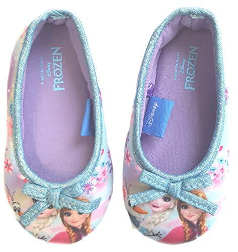 Frozen Hausschuhe Eiskönigin Mädchen Schuhe (Blau, 28)