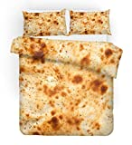 F FANAIJIA Pizza Duvet Cover Set Food Print Bedding Sets Queen Size Luxury Hamburger Bed Set Twin/Full/King Size (NO Comforter) (B,King)