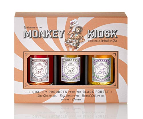Monkey 47 Gin Kiosk (3 x 0,05l) Monkey 47 / Monkey Sloe/Monkey Barrel Cut