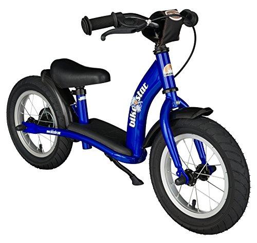 BIKESTAR Bicicleta sin Pedales para niños y niñas | Bici 12 Pulgadas a Partir de 3-4 años con Freno | 12' Edición Clásica Azul