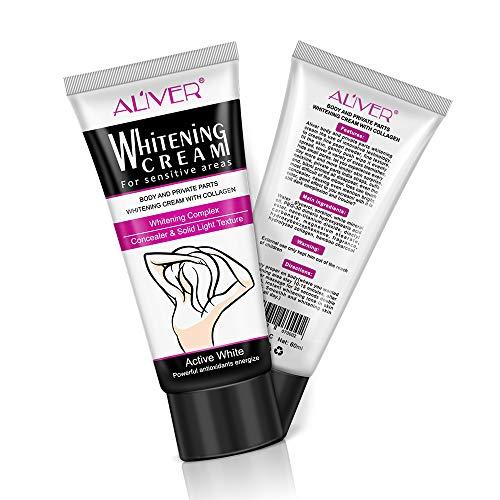 Hautaufhellende Cremes - Body Whitening Cream für Frauen Männer - Natürliche Aufhellungscreme für Achselhöhle,Bikinizone, Oberschenkel, Beine,Intimpartien,sensible Bereiche, 60ml