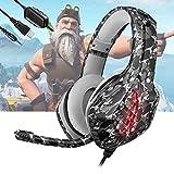 Cascos Gaming PS5 con Micrófono Flexible para Xbox Series X PC Switch PS4 PC Gaming, Auriculares con...