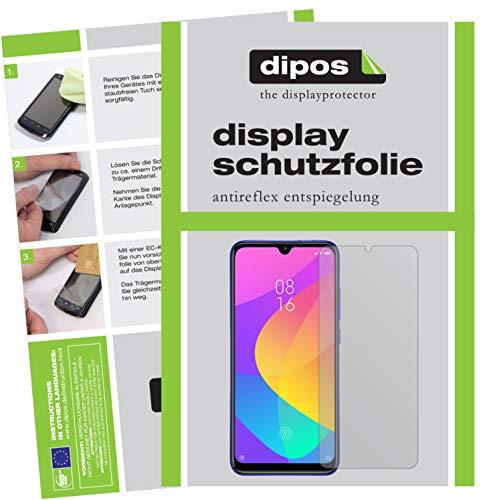dipos I Schutzfolie matt kompatibel mit Xiaomi Mi A3 Folie Bildschirmschutzfolie (bewusst Kleiner als das Glas, da Dieses gewölbt ist)