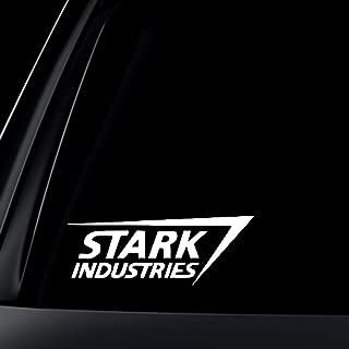 stark industries car sticker