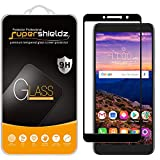 (2 Pack) Supershieldz Designed for Alcatel ONYX, Alcatel TCL A1X (A503DL) and Alcatel 1X (2019) Tempered Glass Screen Protector, (Full Screen Coverage) Anti Scratch, Bubble Free (Black)