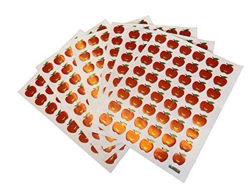 10 Blatt metallic CARS, Tiere, Sterne, Belohnung, Smiley, Verschieden Stil Sticker zum Basteln Kinder Schrott Bücher - von fat-catz-copy-catz - 10 blatt apfel sticker, 13cm x 10cm