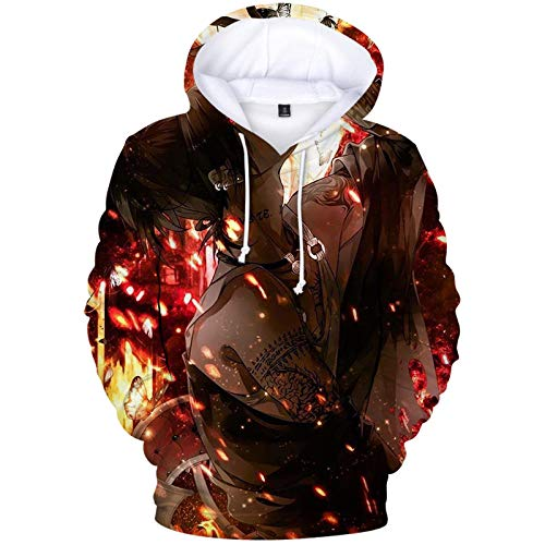 Unisex Tokyo Ghoul Kapuzenpullover Tops Fashion Hoodie Kordeltasche Pullover Hooded Sweatshirt-A_XXL