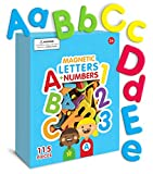 Curious Columbus Magnetic Letters and Numbers. Set of 115 Premium Quality ABC, 123