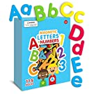 Curious Columbus Magnetic Letters and Numbers. 115 ABC magnets. Foam Alphabet Letters Plus Numbers. Educational Toy for kids for Preschool Spelling Games and Counting Games