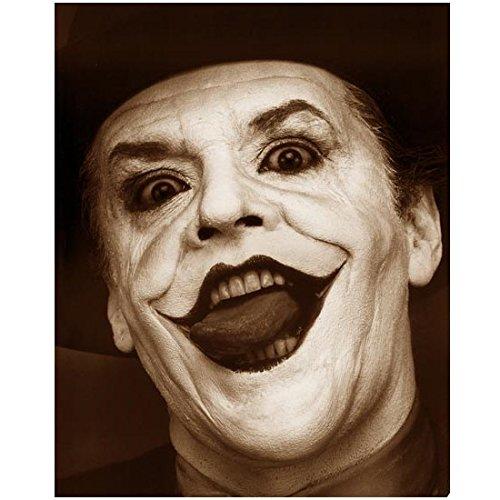 Jack Nicholson 8 x 10 Photo Batman as The Joker Sepia Tone Pic Headshot Mouth Open Really Creepy kn