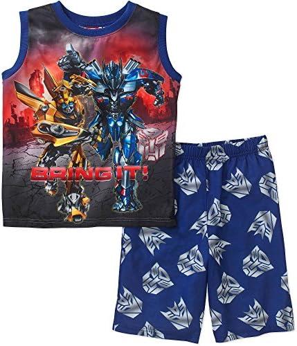 TRANSFORMERS OPTIMUS PRIME And BUMBLEBEE Pajama Shorts Set Size 6 7 product image