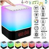 StillCool Enceinte Haut-parleur Bluetooth Portable Lampe de Chevet LED avec Contrôle...