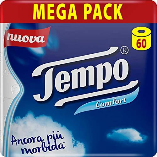 Tempo Carta Igienica Comfort – 60 Maxi-Rollen (15 Packungen mit 4 Rollen)