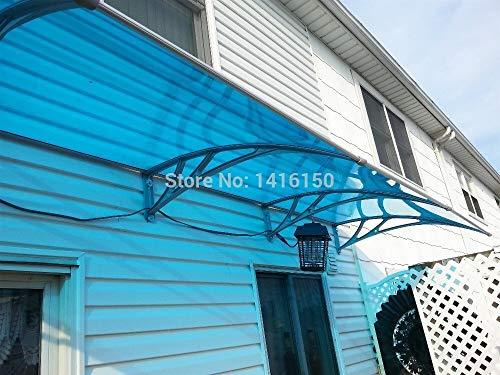 Vordach für haustür Tiefe 150cm, Breite 240cm.Home USE Entry Door DIY Awning, Engineering Plastic Halter PC-Blatt Awning