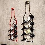 GSOLOYL Vino Vintage Pared Colgador Inicio Restaurante Bar Pared Colgante Loft...