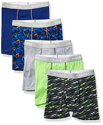 Hanes Boys' Boxer Brief, Assorted Prints & Solids, Large