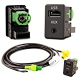 Adapter Universe USB AUX Einbau Stecker Kabel Set Auto Radio kompatibel mit RCD RNS NAV 268MF -