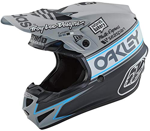 Troy Lee Designs Motocross-Helm SE4 Polyacrylite Grau Gr. L