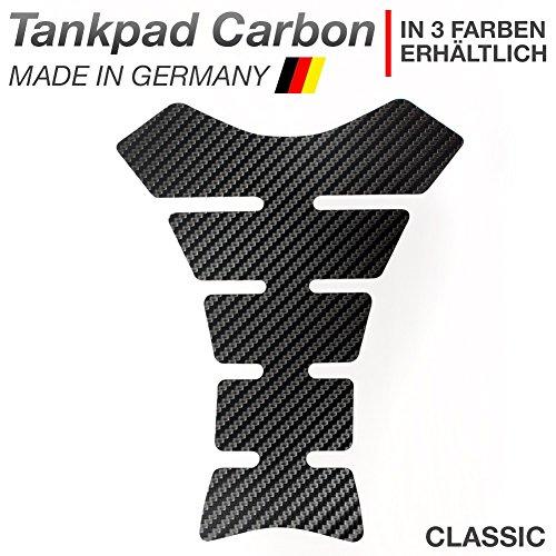 Motoking Tankpad Carbon Classic Tankaufkleber, Tankschutz, Lackschutz, Aufkleber Pad für Motorrad Tank - in 3 Farben erhältlich - SCHWARZ