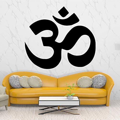 hetingyue Muurtattoo, exquis symbool, zelfklevend, afneembaar, voor slaapkamer, decoratie, woonkamer, muur, afneembare achtergrond