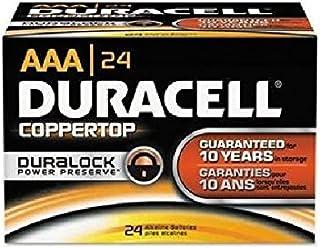 Duracell CopperTop Alkaline Batteries with Duralock Power Preserve Technology, AAA, 24/Bx