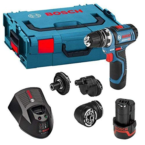 Bosch Professional GSR 12 V-15 FC Cordless Drill Driver Set with 2 x 12 V 2.0 Ah...