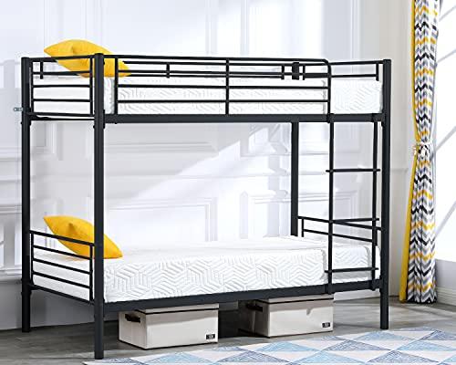 Bonnlo Twin Over Twin Metal Bunk Bed