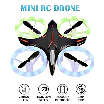 Mini Drone, Kids Toys Mini Drone RC Quadcopter Headless Mode 2.4GHz 4 Chanel 6 Axis Gyro Steady Hold Height Helicopter for Beginners and Kids Boys or Girls, Indoor Helicopter Light Up Toys