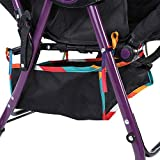 Baby Stroller Basket, Under Baby Stroller Storage Basket Solid Durable Oxford Fabric Pushchair Bottom Basket for Stroller Storage Organizer Bag