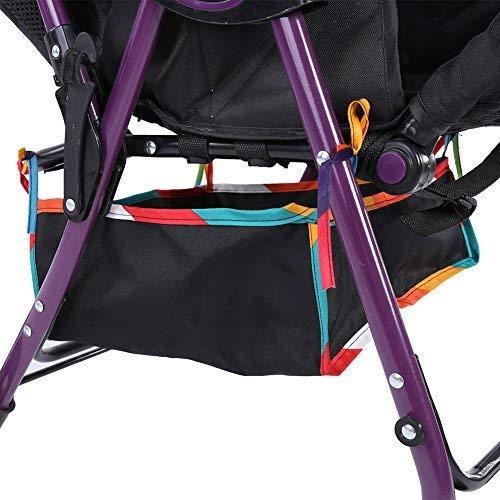Baby Stroller Basket, Under Baby Stroller Storage Basket Solid Durable Oxford Fabric Pushchair Bottom Basket for Stroller Storage Organizer Bag