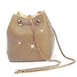 Gold Triangle Full Rhinestones Evening Bag