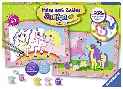 Ravensburger Malen nach Zahlen 27773 - Süße Ponys - Für Kinder von 5-7 Jahren