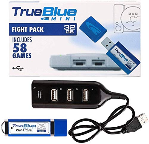 Entrega gratis True Blue Mini Fight Pack para Playstation Classic 2 jugadores 32GB 58 Juegos Fight Pack para Playstation Accesorios