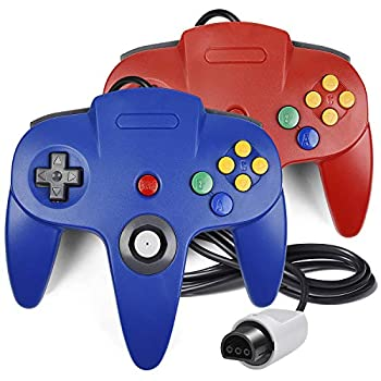 2 Pack N64 Controller iNNEXT Classic Wired N64 64-bit Gamepad Joystick for Ultra 64 Video Game Console