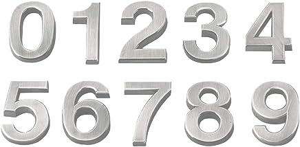 Num/éro de maison Covermason /Énergie solaire LED Light House Hotel porte adresse Plaque num/éro chiffres plaque de signalisation 9