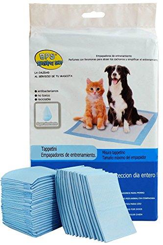 BPS® Empapadores de Entrenamiento para Perros Gatos Perfumes con Feromonas para Atraer los Cachorros y Simplificar el Entrenamiento (60pcs 60 * 60pcs) BPS-2168 * 2