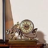 JINKEBIN Escultura de Resina Reloj/Despertador/Reloj de Mesa Sala de Creative Living TV Gabinete de los Ornamentos/de Escritorio Reloj de péndulo de 30 * 26 * 10 cm Elegante y Hermosa