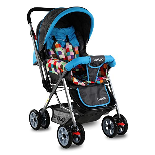 LuvLap Sunshine Stroller/Pram, Easy Fold, for Newborn Baby/Kids, 0-3 Years (Teal)