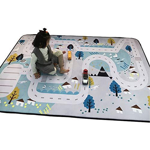 Zinsale Große Verdicken Baby Krabbeldecken Langsames Aufstehen Samt Spielmatte Kindergarten Aktivität Pad Krabbelmatte (Dorf)