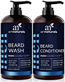 ArtNaturals Beard Shampoo and Conditioner Set - Softens, Strengthens and Smooths Mustache and Beard...