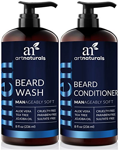 ArtNaturals Beard Shampoo and Conditioner Set - Softens, Strengthens and Smooths Mustache and Beard Hair - All Skin and Hair Types