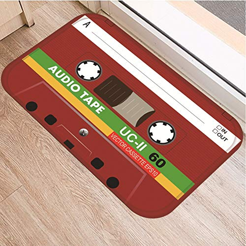 OPLJ Cinta de cassette, alfombra antideslizante para el suelo, alfombra para puerta de baño, cocina, entrada, decoración del hogar, alfombra A25, 40 x 60 cm