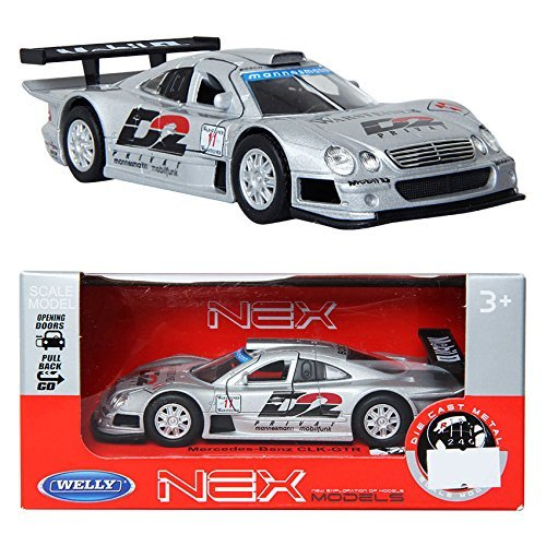 Welly 1:34 Mercedes-Benz CLK-GTR / Silver / Toy / DIE-CAST Toy Model Cars