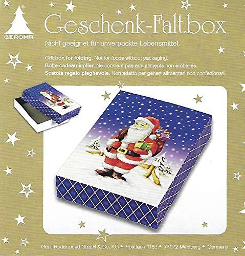 6 Geschenk Faltbox Weihnachten - Geschenkkarton 24 x 18 x 5cm