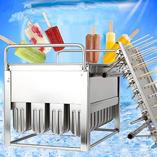 30Pcs x 85g Commercial Popsicle Mold Machine Stainless SteelIce Lolly Popsicle Molds Kit Ice Pop Lolly Popsicle Ice Cream Stick Holder Ice Pop Maker Molds Basket