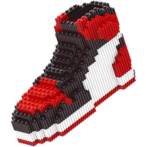 Nwihac Zapatos de Baloncesto Modelo Nano Bloque Niños 3D Puzzle Educación Regalo de Juguete, Rojo
