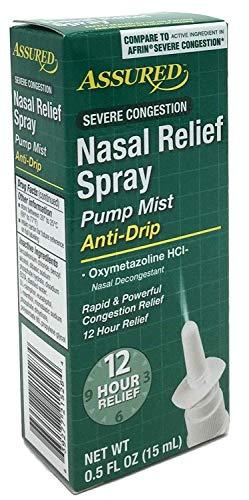 Nasal Relief Spray, Pump Mist, Anti-drip, Severe Congestion, (Oxymetazoline HCI) 12 Hours, 3 Pack.