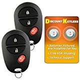Discount Keyless Replacement Key Fob Car Remote For Toyota Tacoma Tundra Sequoia Highlander GQ43VT20T (2 Pack)