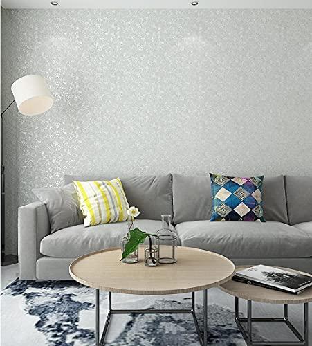 Papel tapiz 9.5M Llanura moteada gris claro Papel pintado minimalista no tejido para Dormitorio Sala de estar Papel tapiz Telón de fondo de TV Decoración de paredes